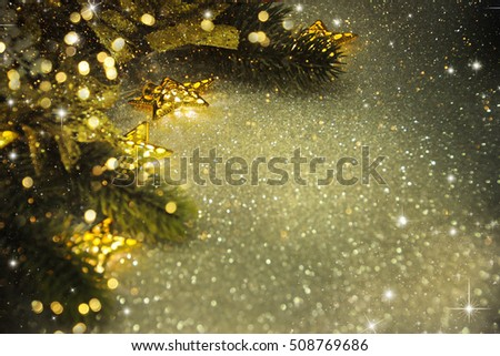 Christmas background with lighting