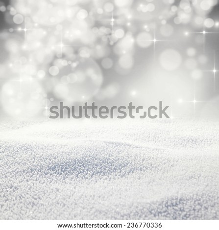 Christmas background with snow - stock photo