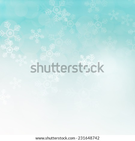 Christmas background with snowflakes, abstract illustration - stock photo