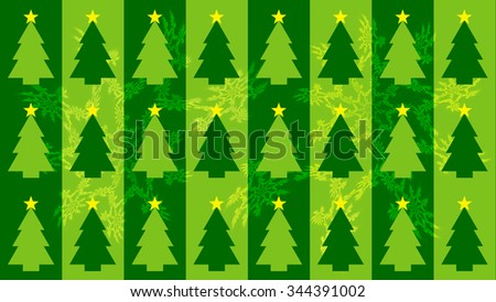 Christmas background with trees in the background of fractals and strips - stock photo