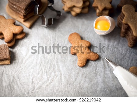 Christmas backing gingerbread man  decoration