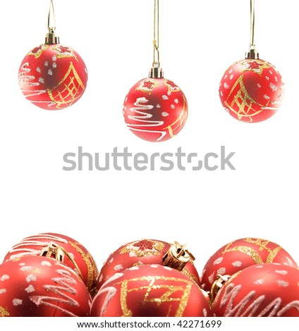 christmas ball are isolated on white