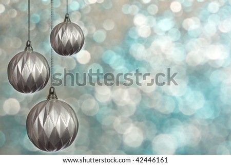 Christmas ball . background with space for text or image.