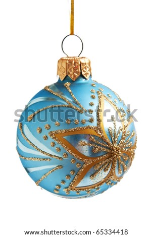 Christmas ball isolated on a white  background - stock photo