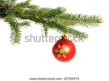 Christmas ball isolated on the white background - stock photo