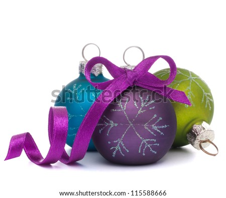 Christmas ball isolated on white background cutout - stock photo