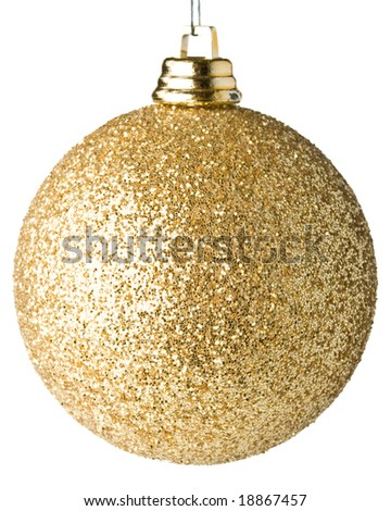 Christmas ball on a  white background - stock photo