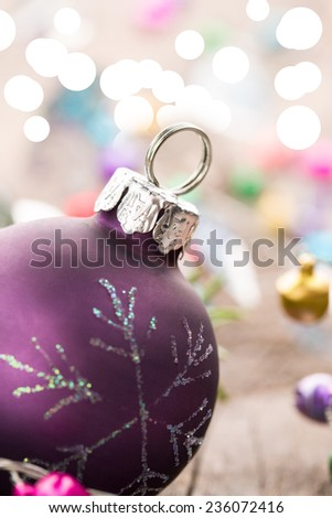 Christmas ball on abstract background - stock photo