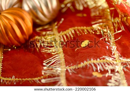 Christmas ball on new year background - stock photo