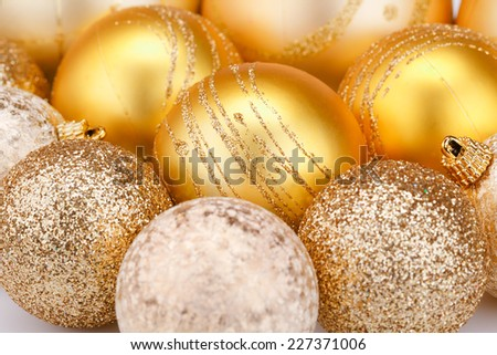 Christmas balls  close up picture. - stock photo