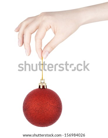 Christmas balls  isolated on a white background - stock photo