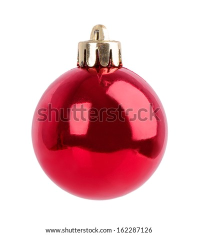 Christmas balls isolated on white background - stock photo