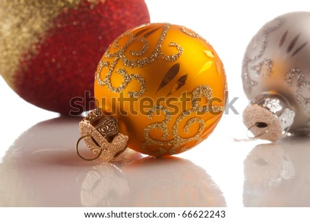 Christmas balls isolated on white backgrouns