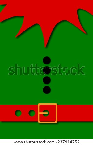 Christmas Banner, Elf Background - stock photo