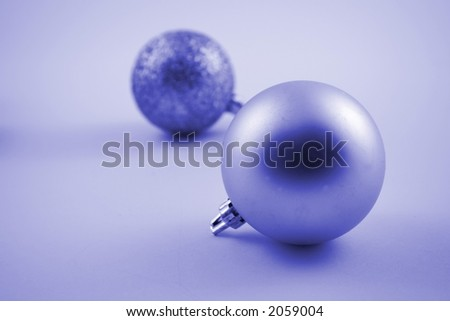 Christmas bauble against a white background