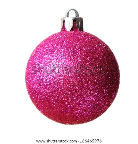 Christmas bauble isolated on a white background    - stock photo
