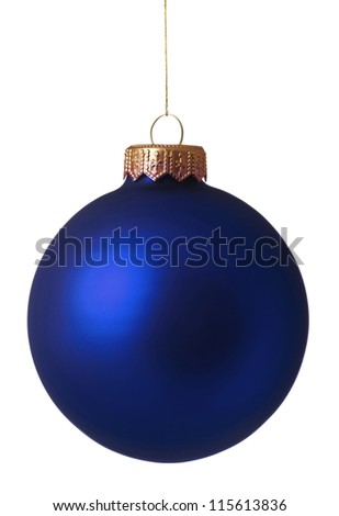 Christmas bauble isolated on white background - stock photo