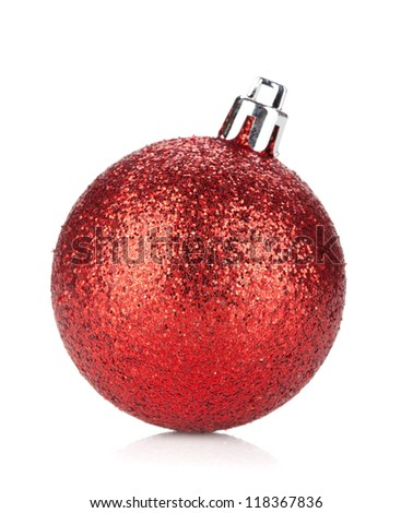 Christmas bauble. Isolated on white background - stock photo