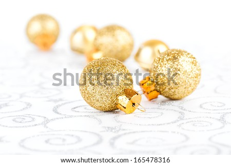 Christmas bauble on abstract background - stock photo