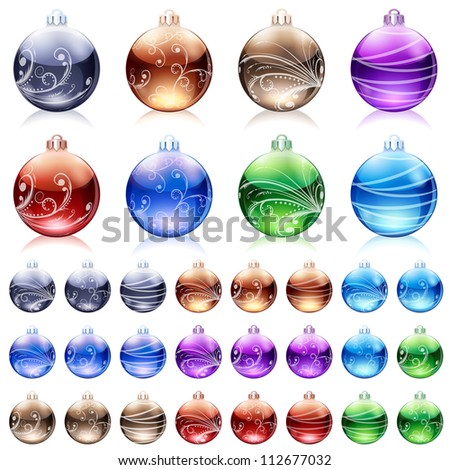 Christmas baubles. Raster version, vector file id: 112056950
