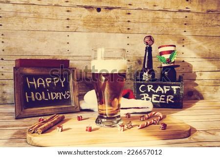 Christmas Beer  - stock photo