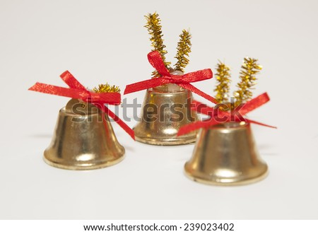 christmas bells decoration - stock photo