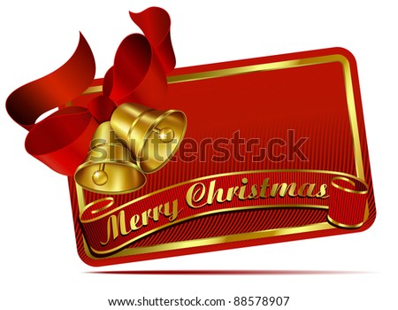 Christmas Bells Web Banner - Raster Version - stock photo