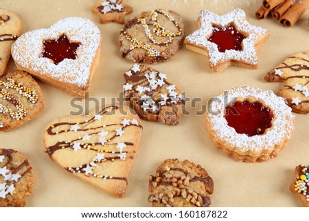 christmas biscuits - stock photo