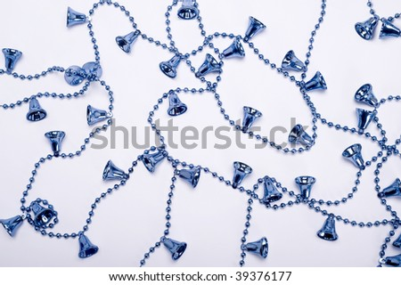 christmas blue bells isolated on white background