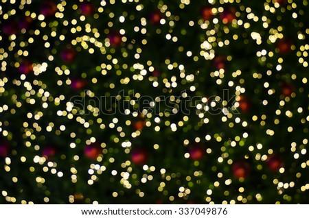 Christmas bokeh background. - stock photo