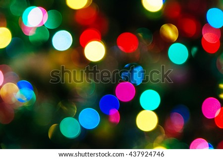 Christmas Bokeh background bokeh Christmas texture illuminated - stock photo