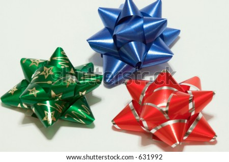 Christmas Bows - stock photo