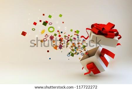 Christmas box - stock photo