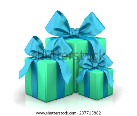 christmas box 3d render