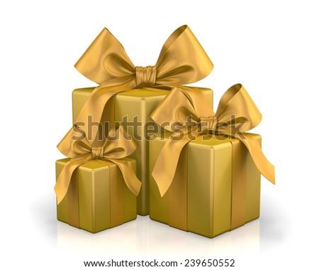 christmas box  3d render - stock photo