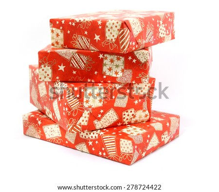 Christmas boxes with gifts