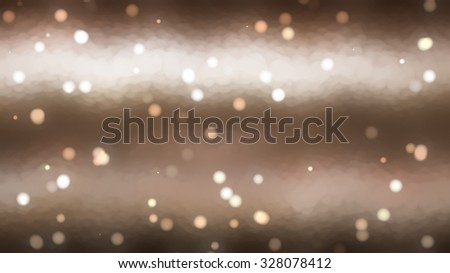 Christmas brown background. Beautiful the winter background, falling snowflakes.