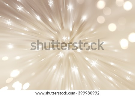 Christmas brown background with falling snowflakes. - stock photo