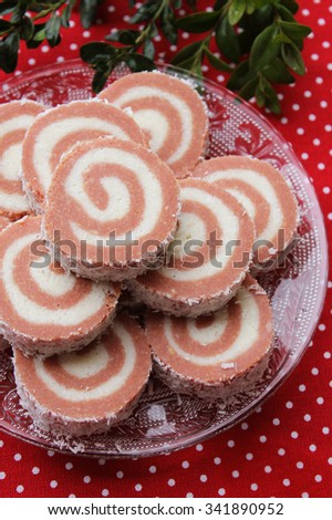 Christmas cake - stock photo
