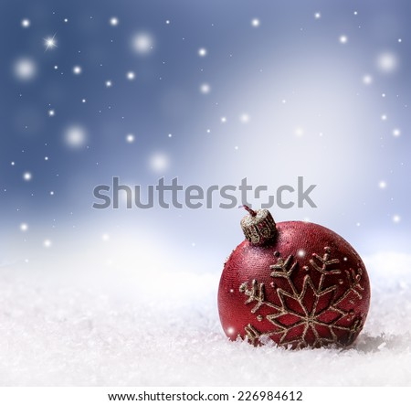 Christmas candle snow and space abstract background.Christmas time - stock photo