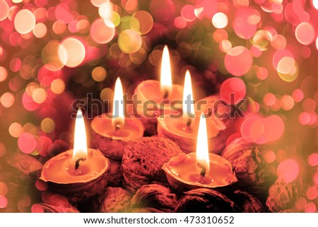 christmas candles in the dark xmas night