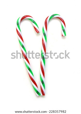 christmas candy canes - stock photo