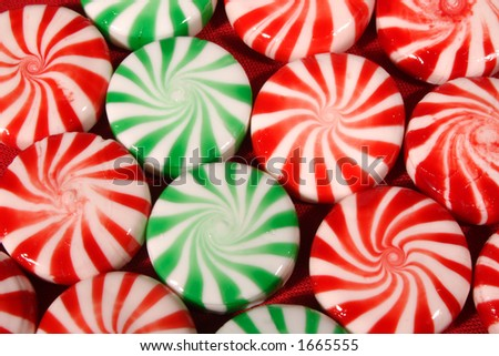 Christmas Candy top perspective - stock photo
