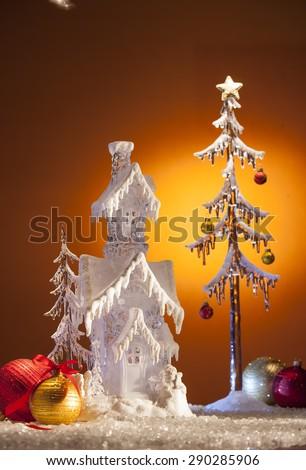 christmas card - stock photo