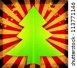 christmas card ,christmas tree ,christmas background - stock photo