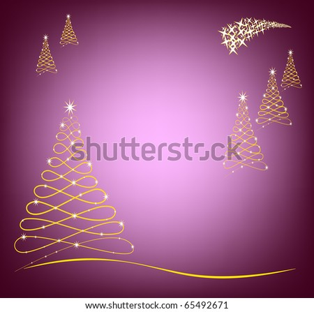 Christmas Card in purple color