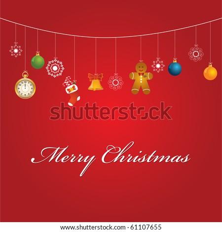 Christmas card raster - stock photo