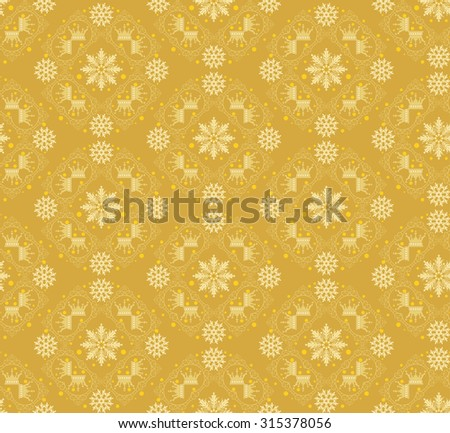 Christmas Card Seamless Pattern Christmas Background Christmas Decoration Ideas Good for Wrapping Paper - stock photo