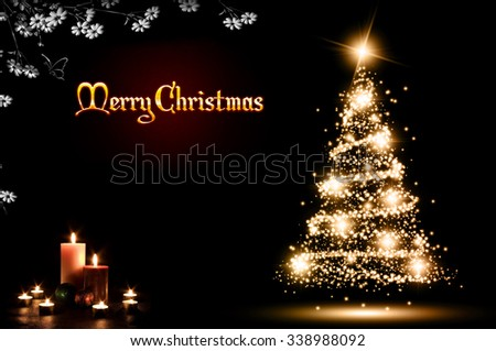 Christmas Card with black background