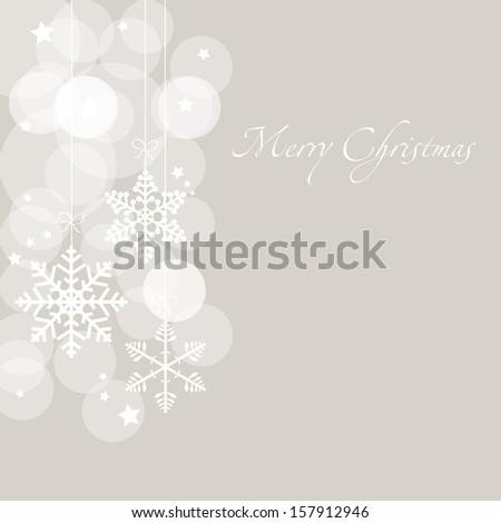 Christmas card with snowflakes - stock photo